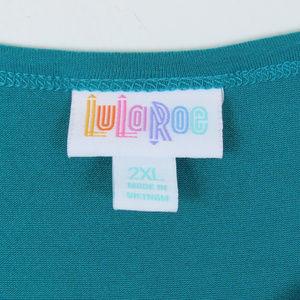 LuLaRoe Dresses - Lularoe   Black Teal Colorblock Julia Dress
